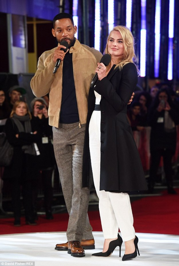 Will Smith and Margot Robbie